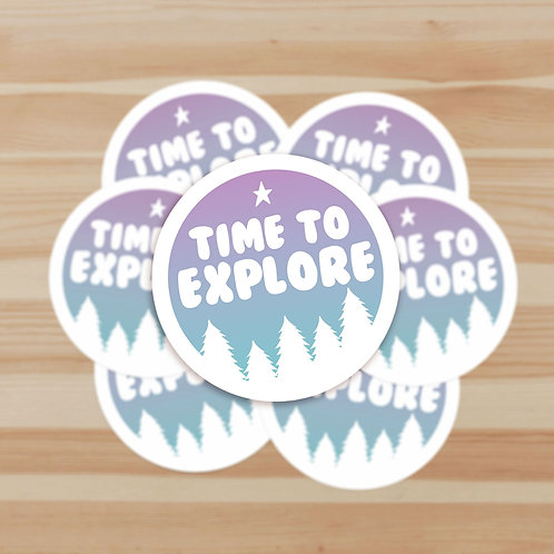 Time to Explore Stickers
