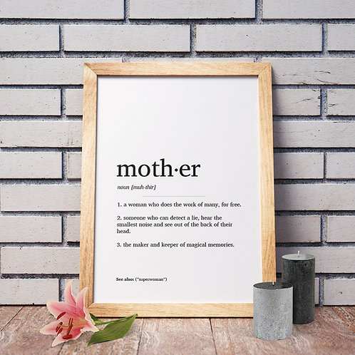 Mother Definition Poster