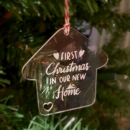 First Christmas in our New Home Ornament