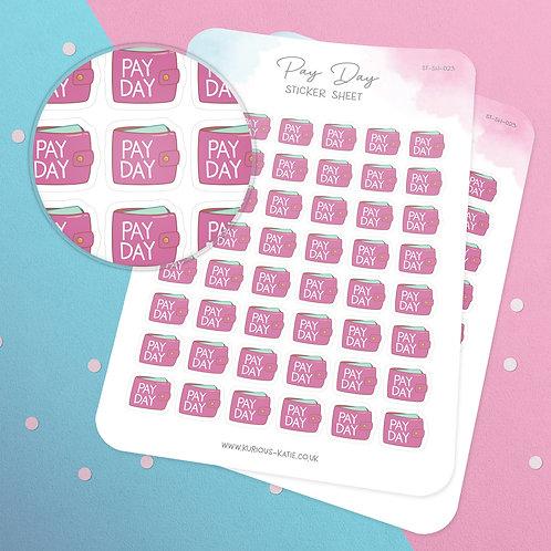 Pay Day Sticker Sheet