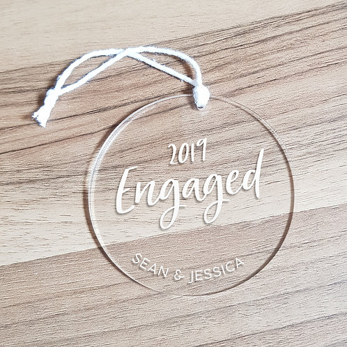 Personalised Engaged [Year] Ornament