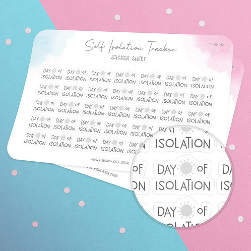 Daily Isolation Tracker Sticker Sheet