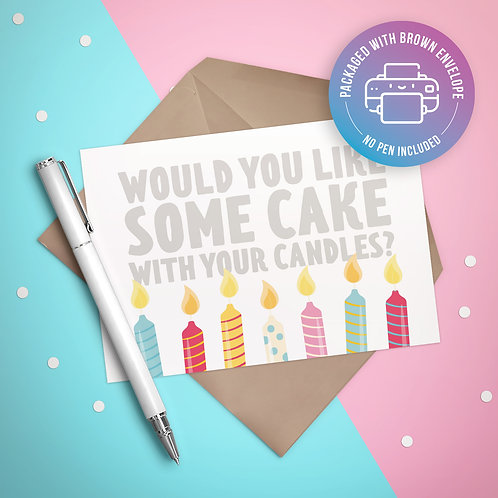 Some Cake with your Candles Card