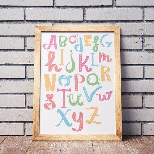 Cute Nursery Alphabet Poster