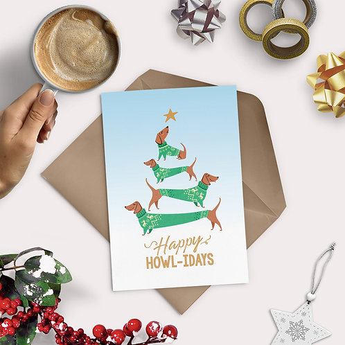 Happy Howlidays Greeting Card