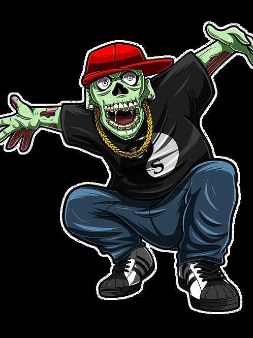 """Hip Hop Zombie """"Clouse"""" 1.25""""  Hat Pin"""