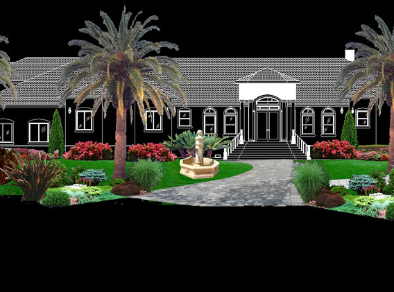 Rendering with future house