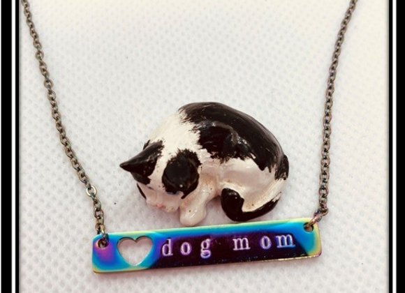 Dog Mom Open-Heart Necklace