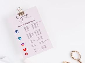 Creëer een professionele uitstraling voor je Social media