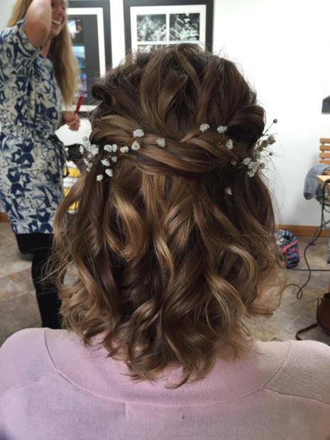 wedding hair for short hair