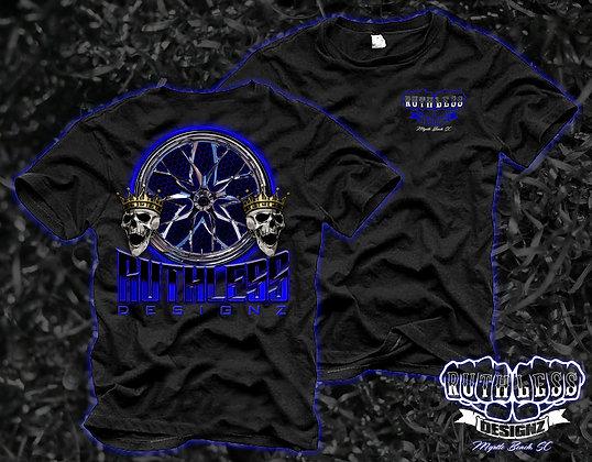 Ruthless Blue Skull T-Shirt