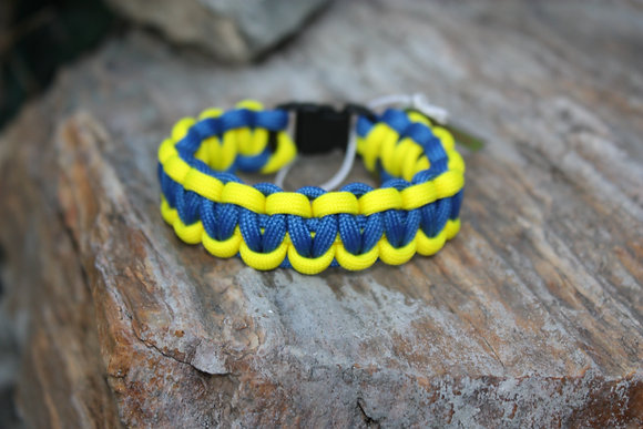 Blue Yellow Survival Band - Buckle