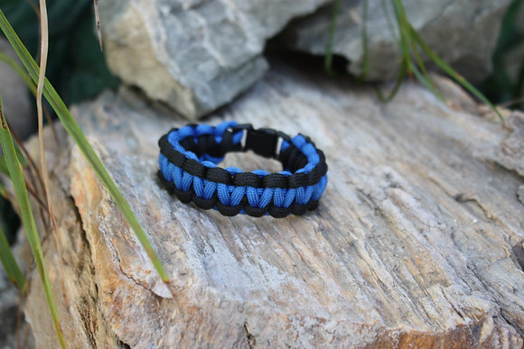 Blue Black Survival Band - Buckle
