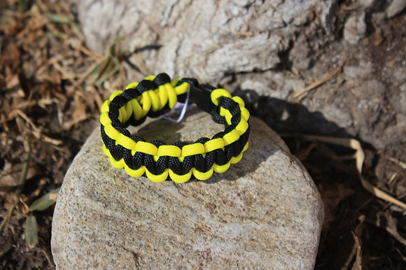 Black Yellow Survival Band - Buckle