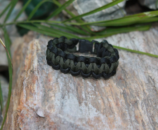 OD Green Black Survival Band - Buckle