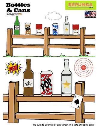 Bottles and Cans Target 6 Pack