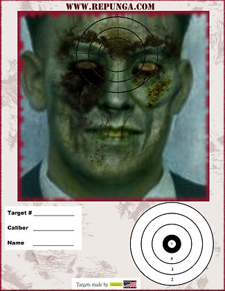 Zombie Head Shots Targets 5 Pack
