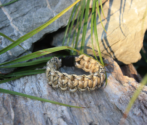 Desert Camo Survival Band - Buckle
