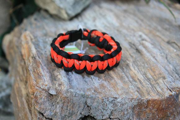 Black Hunter Orange Survival Band - Buckle