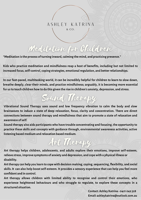 THERAPIES AT THE MINDFUL SOUL ROOM
