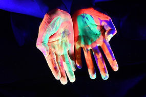 HANDS COLOURED - FLURO