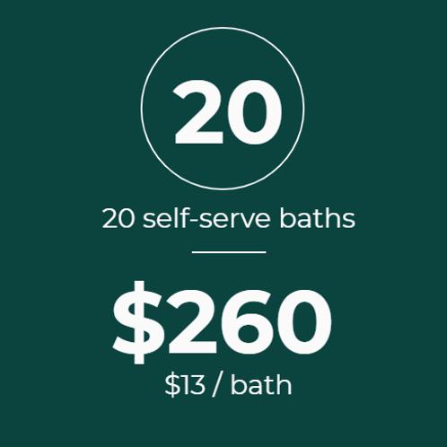 20 Self-Serve Baths