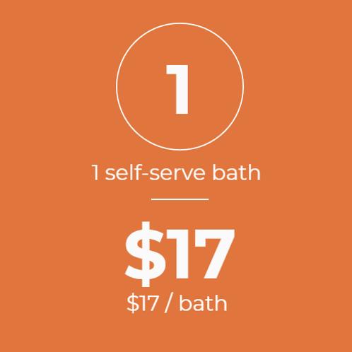 1 Self-Serve Bath