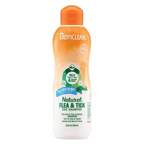 Tropiclean Soothing Flea & Tick Shampoo 20oz