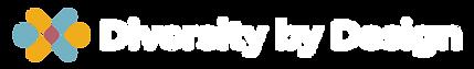 Diversity by Design_Logo_1 line reverse.