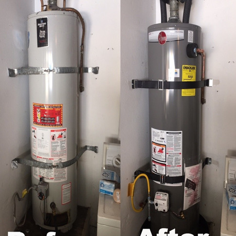 New 50 Gallon Gas Water Heater