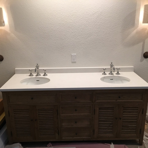 New Faucets & Fixtures for Double Vanity