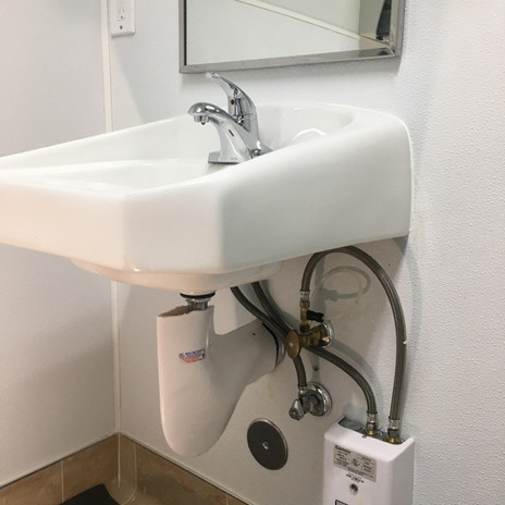 Commercial Faucet, Valves, and Instant Hot Water Box