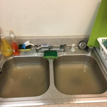 Clogged Kitchen Sink