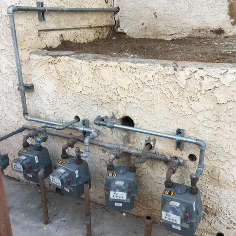 Rerouted Lines to Gas Meter