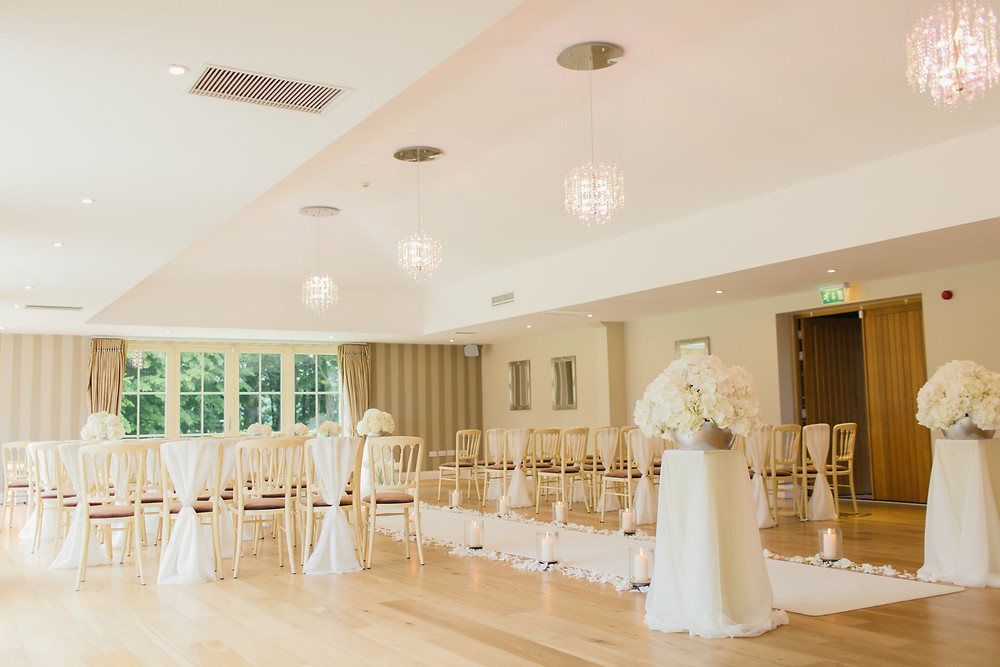 Venue dressed and decorated ready for wedding