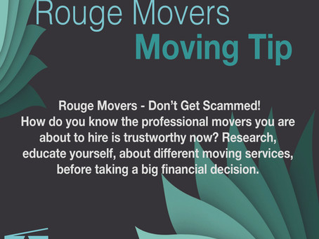 Rouge Movers - Don't Get Scammed
