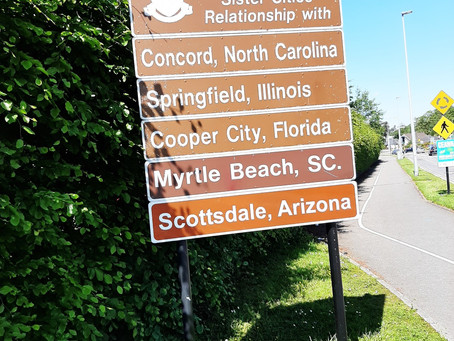 Killarney Town of County Kerry, Ireland, adds Scottsdale, AZ, to their Sister Cities sign!