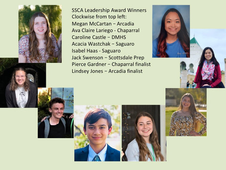 SSCA Youth Leadership Award Winners