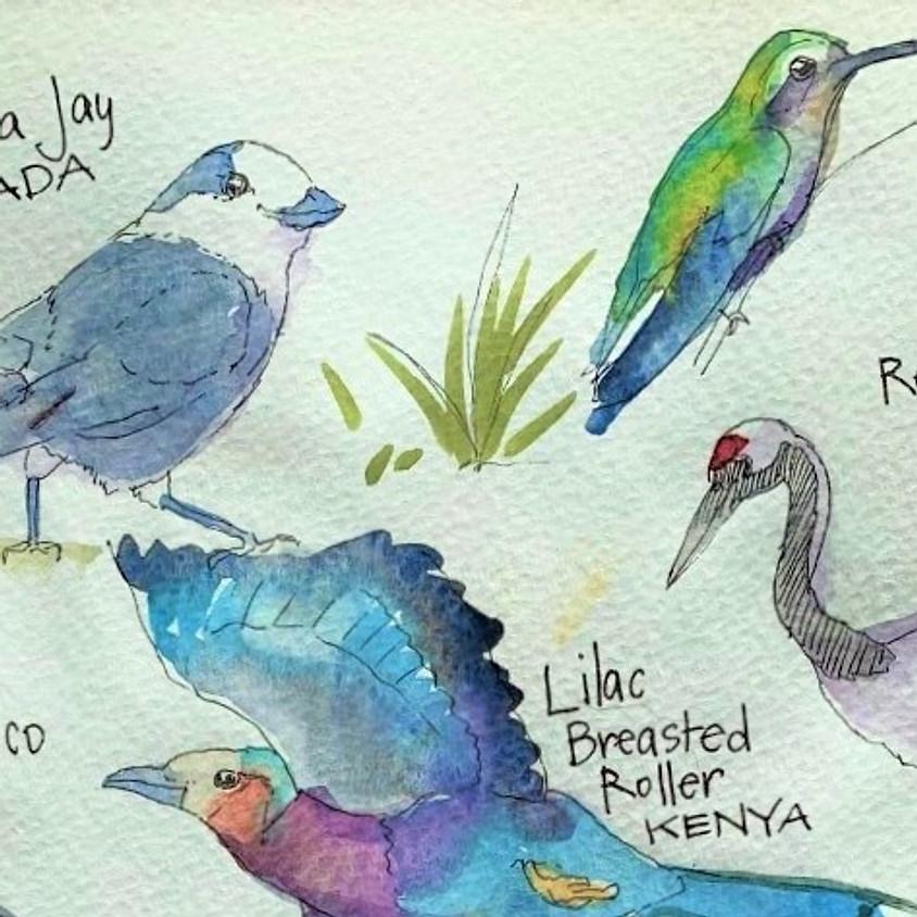 Merging Art, Nature, Journaling on your Travels: A Beginner's Workshop
