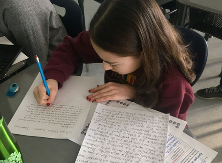 Kingston students engage in French pen pal exchange with Scottsdale students.