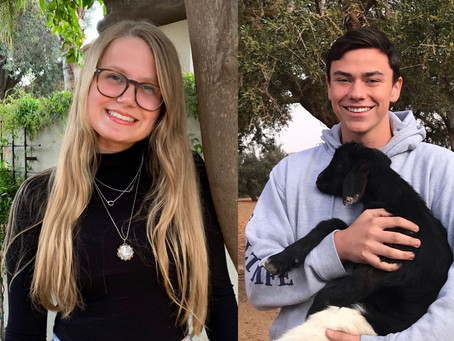 SSCA Outstanding Scottsdale Youth Ambassador Award Winners for 2020