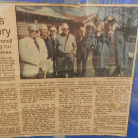 Scout Cabin Blaze kindles Memories - 1991