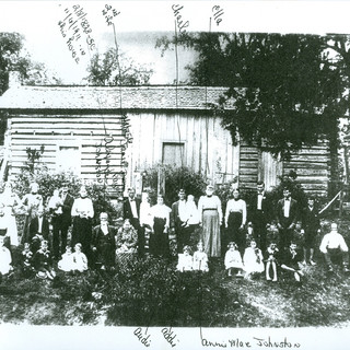 Charles Johnston family and homeplace (Late 1800's). Located at corner of Gaines Loop Road, NE and GA Highway 140 (Turkey Mountain Road, NE)