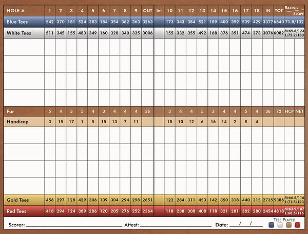 Meadow Lakes Scorecard