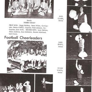1968 football cheerleaders