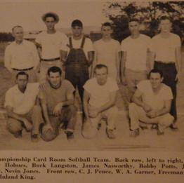Championship Card Room Softball Team 1947