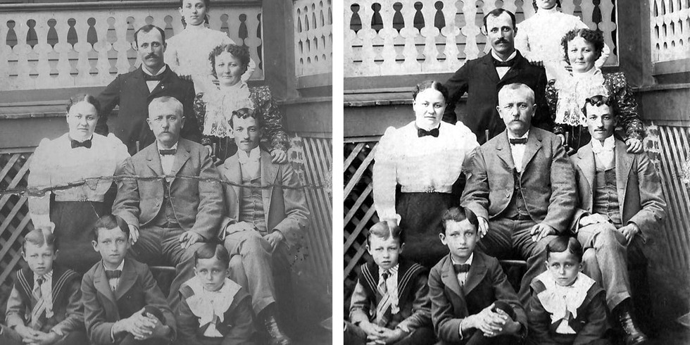 Bringing an old family portrait back to life for our customers is very fulfilling!