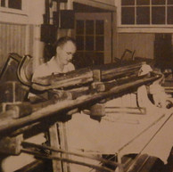 Jeff Dunahoo, tie-in machine operator has worked at Brighton since 1931. Frank Wilson is his assistant - 1946