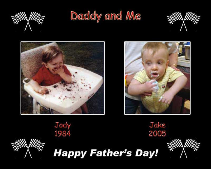 This customer had similar pictures of her son, on the left, and his son, her grandson on the right. She wanted to highlight the similarities for Father's Day.
