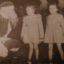 Christmas at Brighton - 1948 - Jean & Jane Jackson